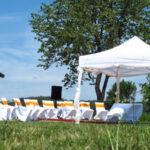 Možnosti využití nůžkových párty stanů