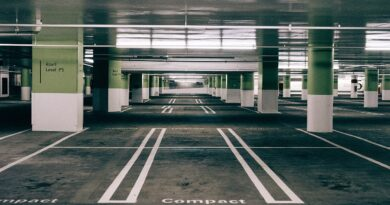 Parking Space Asphalt Urban Empty