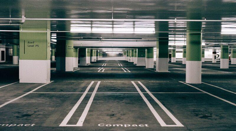 Parking Space Asphalt Urban Empty